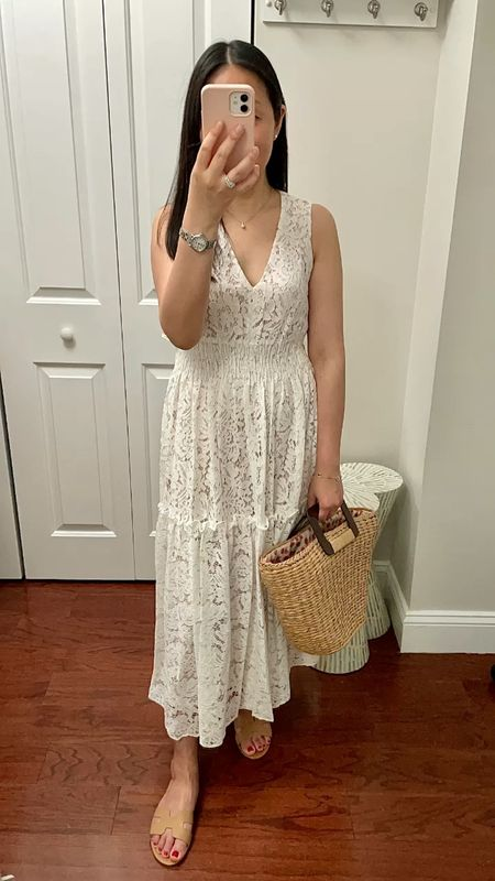 "$39.99 Lace dress is fully lined. I took size 2 and I'm 5' 2.5"" and 113 pounds.   #LTKwedding #LTKSeasonal #LTKunder50"