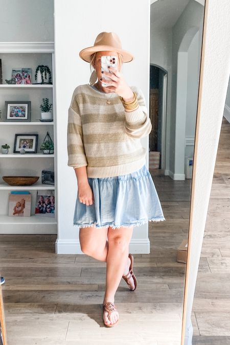 I did it! I tried the new layered look and I'm digging it. Threw this cute and comfy sweater over my fav chambray dress and I'm loving the look. So many options!   #LTKstyletip #LTKunder50 #LTKworkwear