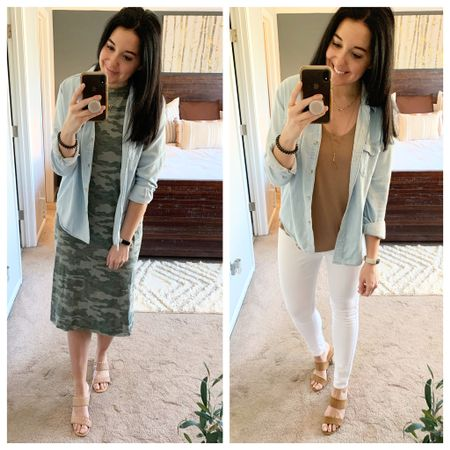 A chambray shirt is another must have in a spring capsule wardrobe. It's so versatile. Swipe through to see some easy ways to wear!   http://liketk.it/3aFIp #liketkit @liketoknow.it
