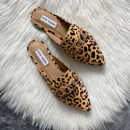 Leopard Steve Madden mules from Walmart #houseofsequins #thehouseofsequins