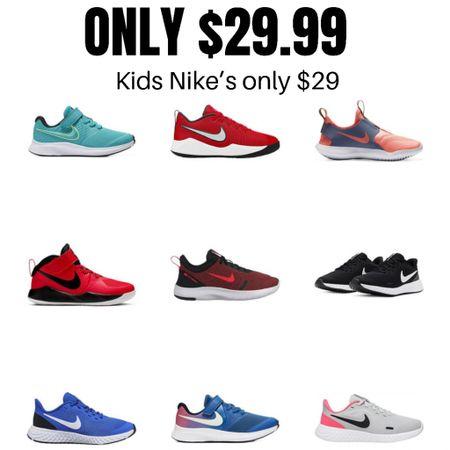 Kids Nike's all only $29  http://liketk.it/3gVv2 #liketkit @liketoknow.it #LTKsalealert #LTKunder50 #LTKshoecrush