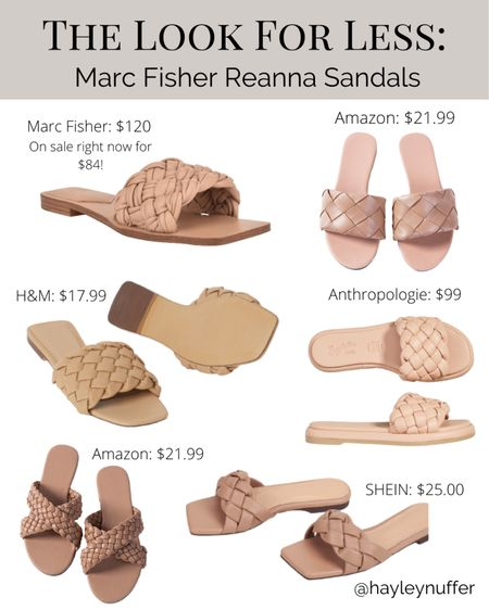 Marc Fisher Sandal look for less!  I've rounded up some fun budget friendly sandals with the puffy braided trend for summer!  Trend items aren't always worth splurging on, so it's a fun way to get in on a seasonal trend!  Follow me on the LIKEtoKNOW.it shopping app to get the product details!   http://liketk.it/3dmSf #liketkit @liketoknow.it #LTKshoecrush #LTKsalealert #LTKunder100