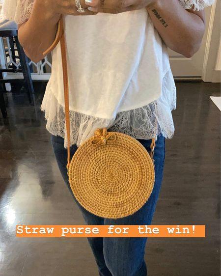 Looooving this straw bag! It continues to return every season! http://liketk.it/2MBkz #liketkit @liketoknow.it #StayHomeWithLTK #LTKunder100