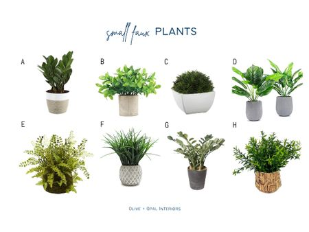 Small faux plants add a pop of color to your shelves or anywhere around the house.  Faux plants, small plants, shelf style, home decor, plant life  #LTKhome