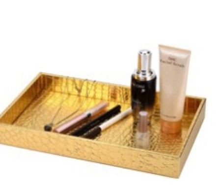 This gold tray is great on a vanity to display pretty things, perfume, great for Jewlery, in the bathroom for toiletries! And office Great gift idea! .   #LTKstyletip #LTKunder50 #LTKGiftGuide