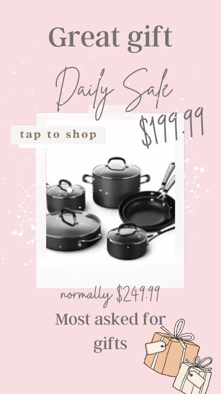 Great gift for the cook  Sale on a best selling pan set!  Perfect for the cook, newlyweds     #LTKhome #LTKsalealert #LTKGiftGuide