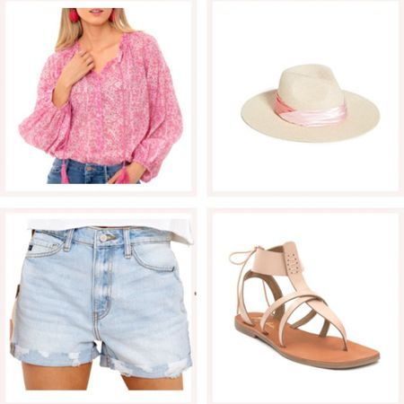 From the farmer's market to the lake, a flowy printed blouse and Jean shorts are a good go-to. @liketoknow.it #liketkit #LTKunder50 #LTKunder100 http://liketk.it/3edyt