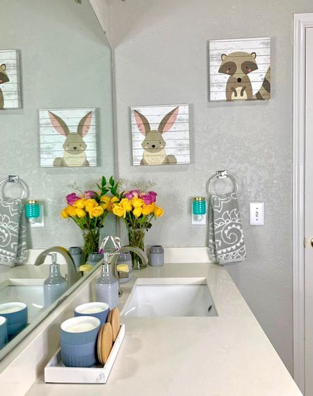 #AD Shop for all my favorite #WalmartHome bathroom pieces from  @walmart here on @liketoknow.it #liketkit http://liketk.it/3kN5G  #LTKunder50 #LTKfamily #LTKhome
