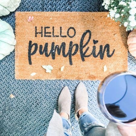 Fall home decor, pumpkin door mat, fall entry way, etsy finds, fall boots http://liketk.it/2VES0 #liketkit @liketoknow.it #StayHomeWithLTK #LTKunder100 #LTKhome