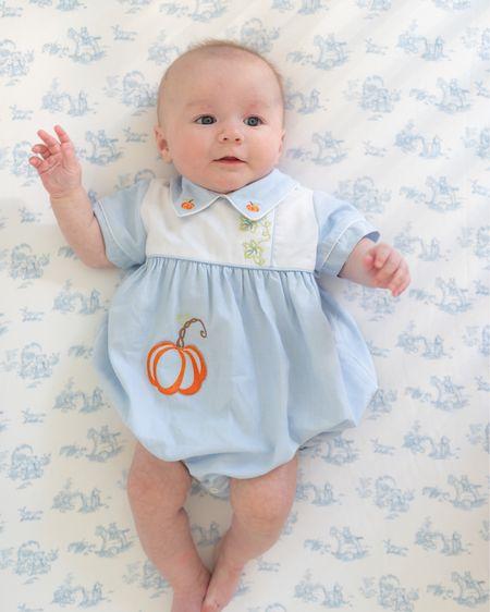 Pumpkin little boys outfit from BellBird #babyboys #pumpkin  #LTKSeasonal