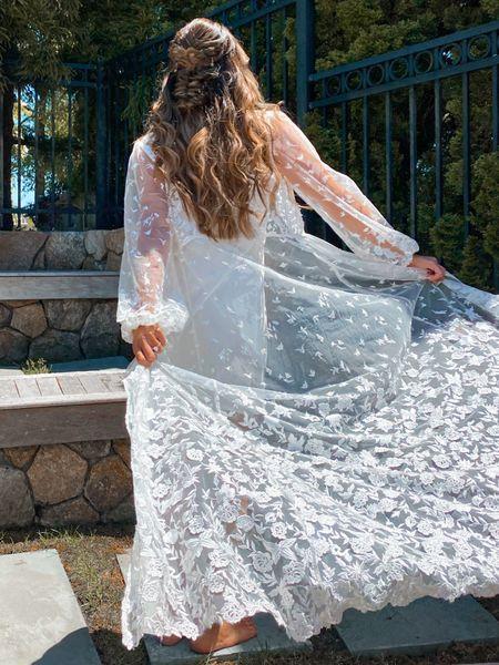 Bridal lace robe   http://liketk.it/3hBhl #liketkit @liketoknow.it @liketoknow.it.brasil @liketoknow.it.europe @liketoknow.it.home @liketoknow.it.family #LTKwedding #LTKtravel #LTKstyletip