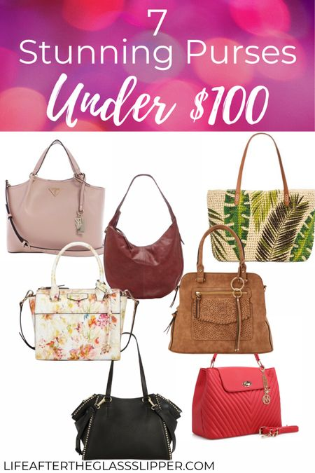 Budget friendly purses, these 7 purses are all under $100 and the perfect self care gift.  Quilted purses, hobo bags, summer woven bags and studded purses. #LTKunder50 #LTKunder100 #LTKstyletip http://liketk.it/2QPVN #liketkit @liketoknow.it