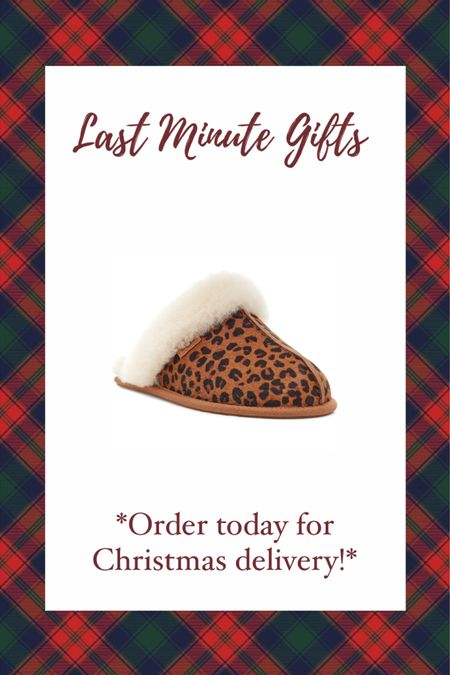 LAST MINUTE CHRISTMAS GIFT IDEAS UNDER $100! Hurry and order TODAY for guaranteed Christmas delivery! Gift guide — gift guide for her— cozy leopard print Ugg slippers! #liketkit #LTKgiftspo @liketoknow.it http://liketk.it/34fgU