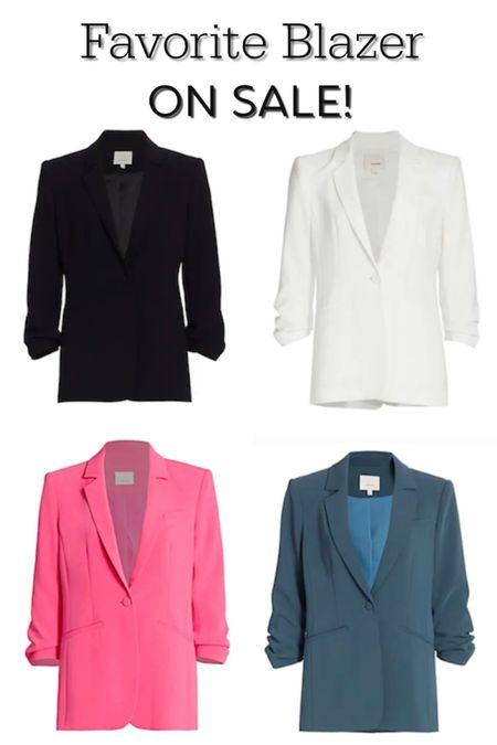 Favorite (and most flattering) ruched sleeve blazer on sale! True to size. http://liketk.it/3gLWV #liketkit @liketoknow.it   #LTKsalealert #LTKstyletip #LTKworkwear