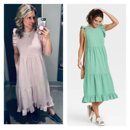 Hello Friends!! I noticed this Ruffled Tiered Dress  from last year is back!! I passed on it last year and then it was sold out. 😕 I did not let it pass me by this year and picked it up in this mint green color. I'm 🤞🏻I can wear it with a baby bump. It's such a great spring/ summer dress- or use it as a pool coverup. ☀️💦 Its 20% off using the Target cartwheel deal!!  • •    http://liketk.it/38RNQ Link to shop in profile   Shop my daily looks by following me on the LIKEtoKNOW.it shopping app   • • •  #liketkit @liketoknow.it #LTKsalealert #LTKstyletip #LTKbump