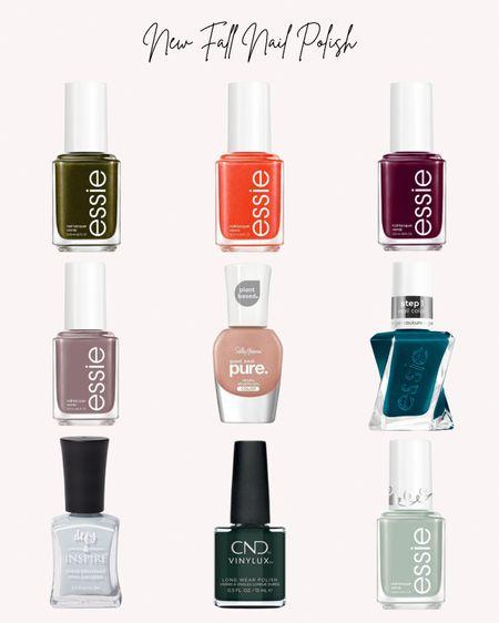 Nail polish, nails, new, fall, autumn, beauty, Essie, sally Hanson, cnd vinylux, defy, colors  #LTKSeasonal #LTKstyletip #LTKunder50