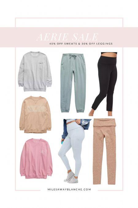 Aerie sale - 40% off sweats and 30% off leggings   #LTKsalealert #LTKtravel #LTKunder50