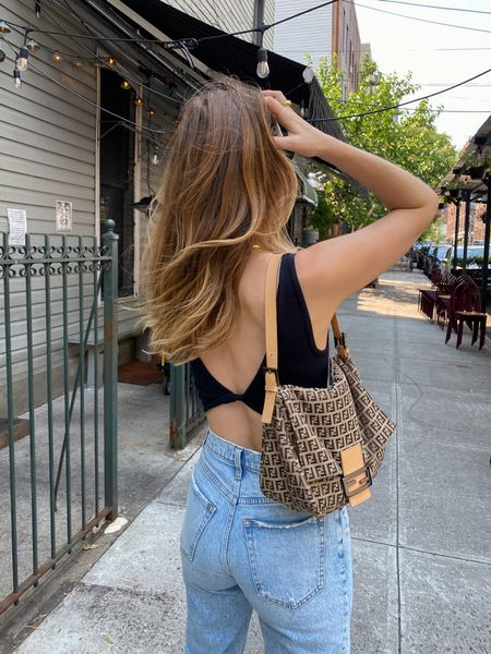 Urban outfitters black reversible top and Abercrombie jeans (fit TTS)   #LTKSeasonal #LTKunder100