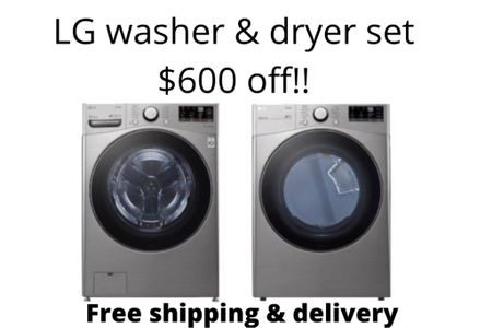 Home makeover! Memorial Day sale. Washer & dryer set for $1600  @liketoknow.it.home @liketoknow.it.family #LTKsalealert #LTKhome #LTKfamily @liketoknow.it #liketkit http://liketk.it/3guuH         Lg  Home Laundry room  Washer Dryer