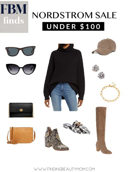 Nordstrom sale under$100, fall style, back to school, bags, sunglasses, booties, Myles, high knee boots   #LTKshoecrush #LTKsalealert #LTKunder100