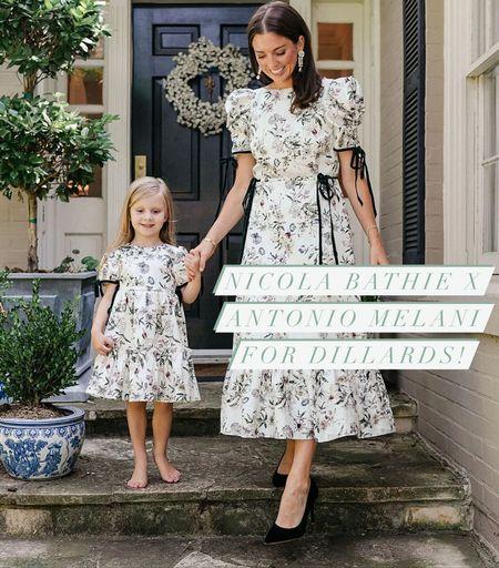 Nicola Bathie x Antonio Melani for Dillards mommy and me dresses perfect for family photos and the holidays! #holidaydress #nicolabathie #dillards #antoniomelani #mommyandme   #LTKSeasonal #LTKfamily #LTKHoliday