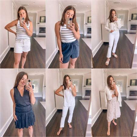 12 spring + summer essentials from Evereve! See IG stories for try on - @lizadams - wearing a small in tops and dresses, 28 in shorts and 27 in jeans! http://liketk.it/3fQD2  #liketkit @liketoknow.it