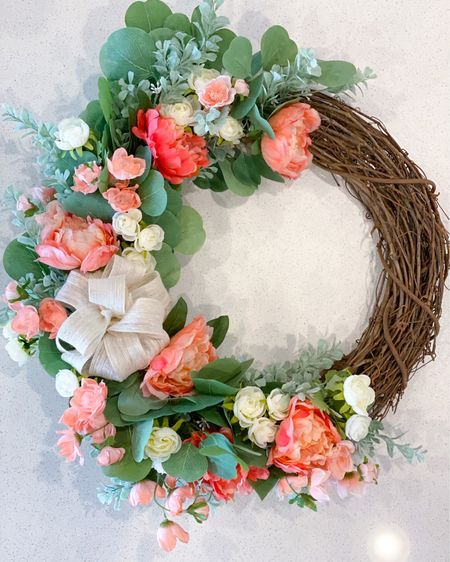 The step-by-step tutorial of how to make this spring wreath is live on the blog! http://liketk.it/3d0C3 @liketoknow.it @liketoknow.it.home #liketkit #LTKfamily #LTKhome #LTKunder100   Patio Home decor  Living room  Patio furniture  Outdoor furniture  Spring decor
