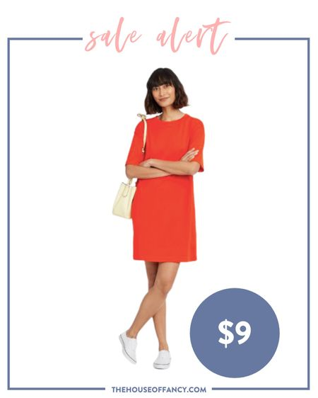 This T-shirt dress would be perfect for the Fourth of July and is only $9!   #LTKunder50 #LTKSeasonal #LTKsalealert