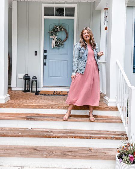 JCrew casual maxi dress on sale! Size down one. I wear a small. I sized up in the @able denim jacket. Steve Madden sandals are TTS! @liketoknow.it @liketoknow.it.home #LTKhome http://liketk.it/3gtib #liketkit #LTKunder100 #LTKsalealert