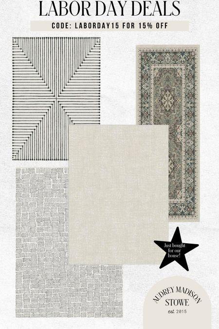 Chic neutral rugs on sale!!! Grab them 15% off today   #LTKhome #LTKSeasonal #LTKstyletip