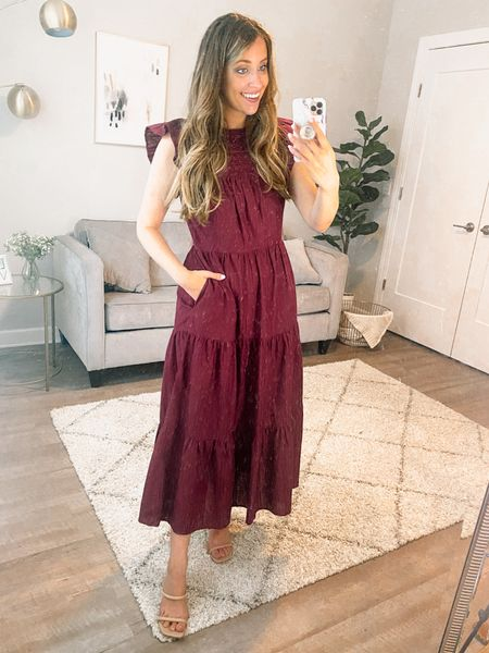 Workwear // work wear // summer dress // fall dress // fall transition // fall style // work dress // burgundy dress // workwear Wednesday // teacher outfits // teacher outfit ideas // target style // target fashion finds // casual style // affordable style     #LTKunder50 #LTKstyletip #LTKworkwear