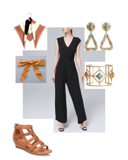 This basic, black jumpsuit is a great wardrobe staple. I'm wearing it this way for a casual dinner out with the hubs. It would also be very chic for the workplace or lunch with friends! I love pairing black and brown together.  http://liketk.it/3bvGi #liketkit @liketoknow.it #LTKstyletip #LTKshoecrush #LTKworkwear Follow me on the LIKEtoKNOW.it shopping app to get the product details for this look and others