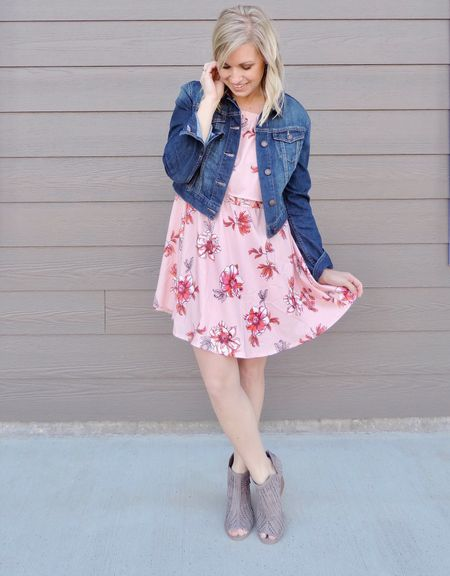Hello, first day of Spring! 🌸 We'll be lucky if it gets above 50 today, so this look is definitely inspired by warmer days ahead!  P.S. this off the shoulder, floral print dress is only $16.99 right now 😲 Follow me on the LIKETOKNOW.IT app for shopping info or click the link in my profile http://liketk.it/2v3qA #liketkit @liketoknow.it