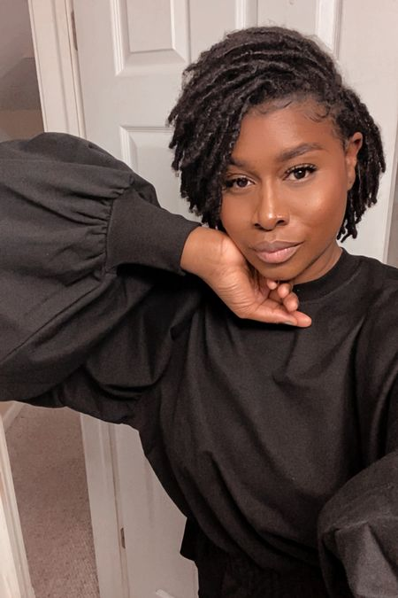 It's the locs and puff sleeve for me!   #LTKunder100 #LTKbeauty #LTKstyletip