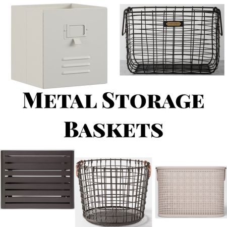Rounding up some metal storage Baskets options available at #Target. I recently got the slatted bin to hold records and I love it!   #organization #organize #organizationbins #baskets #storage #storagebins #storagebaskets #targetfinds  #StayHomeWithLTK #LTKfamily #LTKhome