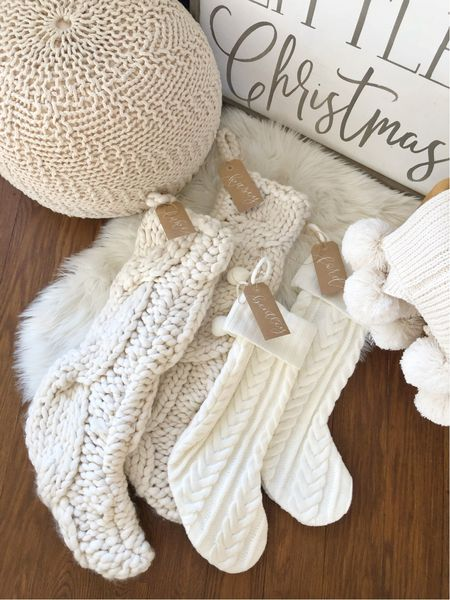 H O L I D A Y S \ Cozy sticking with a personal name tag touch👌🏻  #christmas #christmasdecor #stockings   #LTKHoliday #LTKunder50 #LTKhome