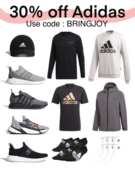 Gift guide for him, gift ideas for him, gifts for him, sneakers, fitness, tennis shoes, cyber Monday, adidas. #LTKsalealert #LTKfit #LTKmens #liketkit @liketoknow.it http://liketk.it/32IVN