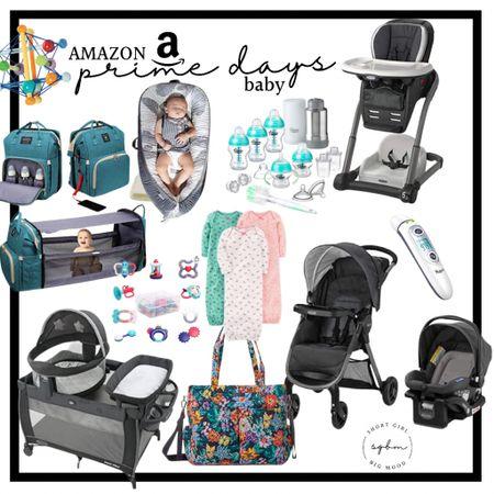 http://liketk.it/3i5JH #liketkit @liketoknow.it #LTKsalealert #LTKbaby #LTKfamily Amazon prime day deals for baby, stroller system, pack and play, car seat, diaper bag, cosleeper, thermometer, pajamas, rattler, Vera Bradley