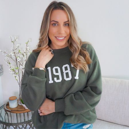 Calling all 1987 babies 👋🏼 How great is this 1987 sweatshirt from Target?! I was so excited to stumble upon this and just had to share 🤍 http://liketk.it/3a7sW #liketkit @liketoknow.it #LTKstyletip #LTKunder50 #LTKsalealert