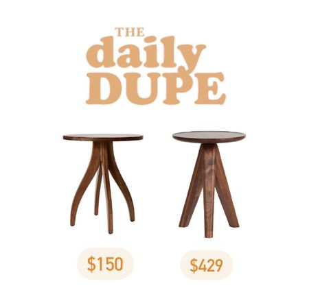 Daily Dupe, End Table, Side Table, Save vs Splurge  #LTKhome