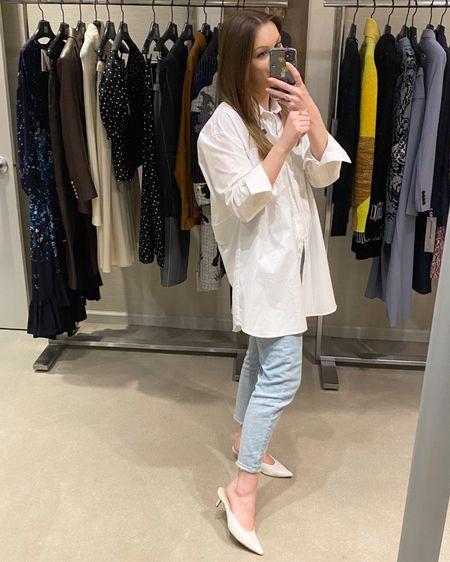 @liketoknow.it http://liketk.it/3jBKK #liketkit #LTKunder50 #LTKstyletip #LTKsalealert Zara button down style 2294/790. Linked similar!! And target wild fable jeans…fit is amazing!! Linked similar