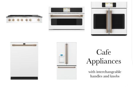 Love these appliances by GE the handles come in rose gold and champagne bronze #whiteappliances #rosegoldhandles #cafeappliances #geappliances #kitchen   #LTKhome #LTKfamily #LTKstyletip