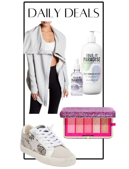 Daily deals! Tarte blush combo, isle of paradise tanning drops and lotion, fashion sneakers, sells cardigan, casual outfit, beauty sale   #LTKunder50 #LTKsalealert #LTKshoecrush