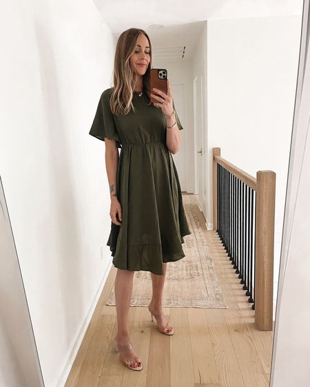 Such a pretty #amazonfashion dress for fall! Great for dressing up or down (tts/small) #falloutfit #falldress   #LTKunder50 #LTKstyletip #LTKunder100