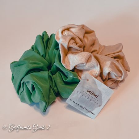 Found this pretty 2 pack scrunchies by Scunci at Target! Pretty green and tan perfect for any summer outfit.  And they're only $6.99.   #LTKunder50 #LTKbeauty #LTKstyletip