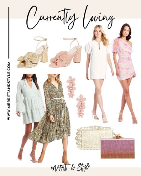 Amanda uprichard dress wedding guest dress pink clutch Pearl clutch   #LTKitbag #LTKsalealert #LTKstyletip