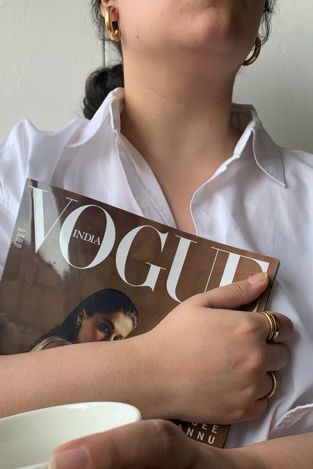 Tuesdays are for bold gold jewellery and vogue 🤍  #LTKunder50 #LTKeurope #LTKhome