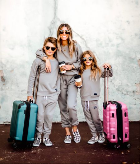 """It's HERE. Every single thing is LIVE and we are EXCITED!😁 // The goal of this collection is """"basic, but better"""" and comfort is KEY! Hopefully these are pieces that you and your little will love and feel comfortable in and will grab time after time! Everyday items that are also great travel! You can use code JENREED for 25% OFF! // Try-on in Stories, but for sizing: I get a small in the long sleeve tops and long sleeve tees, small in the off-shoulder (for more length), xs in the short sleeve tees, and in the fleece matching sets. Kids are true to size, if between go up! // ♥️ Let me know which item(s) you're loving and I'll gift FIVE of you a $300 AF gift-card to shop! Love y' all so much! THANK YOU for showing my kiddos some love!☺️ // ALL items linked in my IG bio! @abercrombie #abercrombiepartner #abercrombiestyle  #LTKsalealert #LTKkids"""