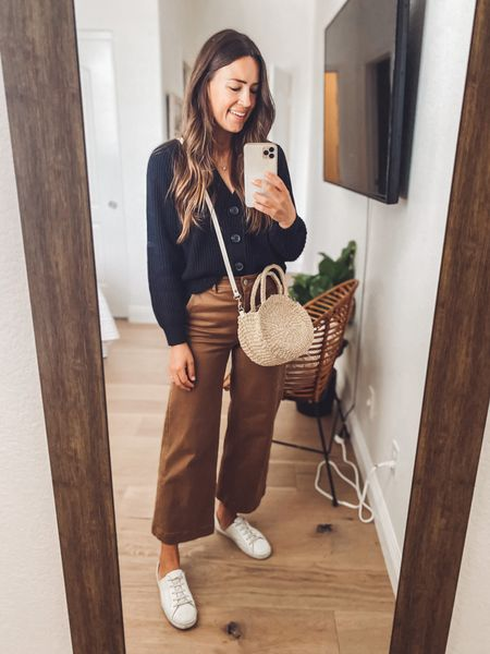 """My bag is the """"petite"""" but the """"Moyen"""" is just a smidge bigger and otherwise the same 🤍  Get 15% off the shoes (handmade from a small, female owned brand!) with NATALIEB15  #LTKshoecrush #LTKstyletip"""