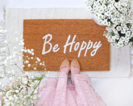 Be Hoppy DIY doormat   #LTKSpringSale #LTKhome #LTKSeasonal